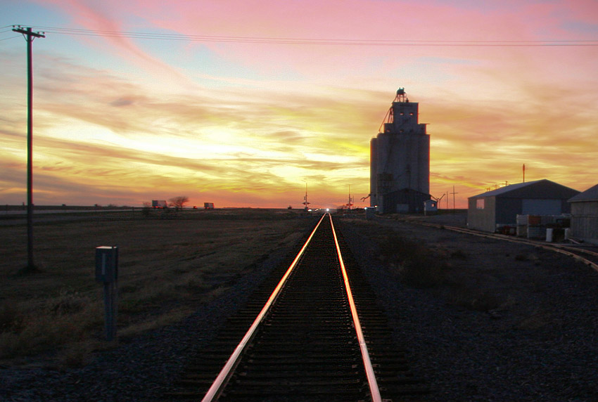 Railroad Crossing at Dusk (revised)