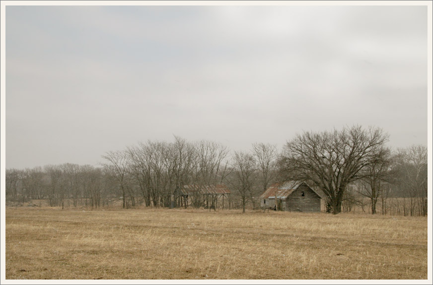 Winter Field and Barns