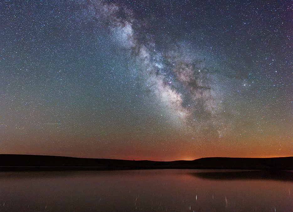 Milky Way over Chase County Lake