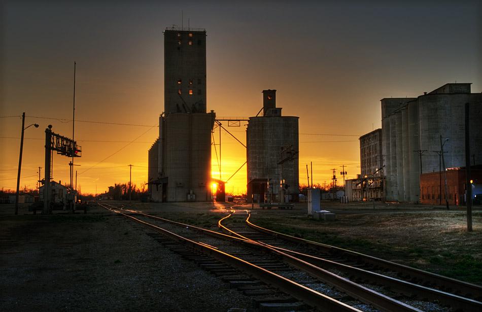 Sundown on the Flour Mills