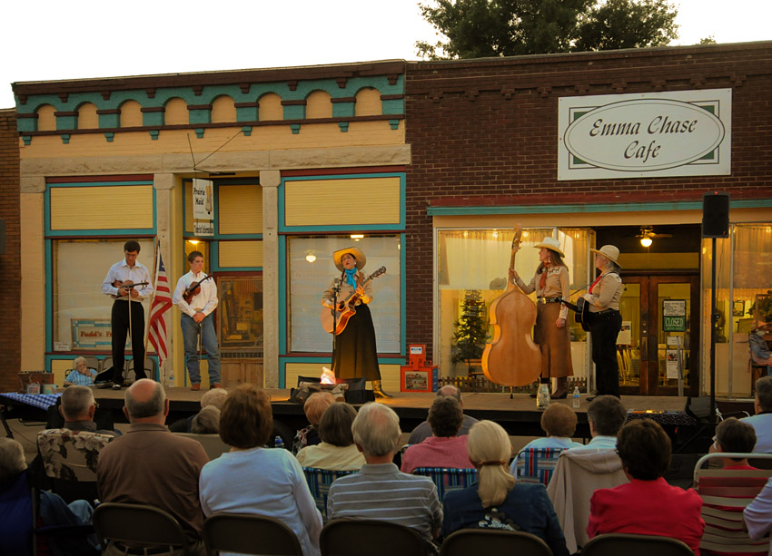 Street Concert in Cottonwood Falls