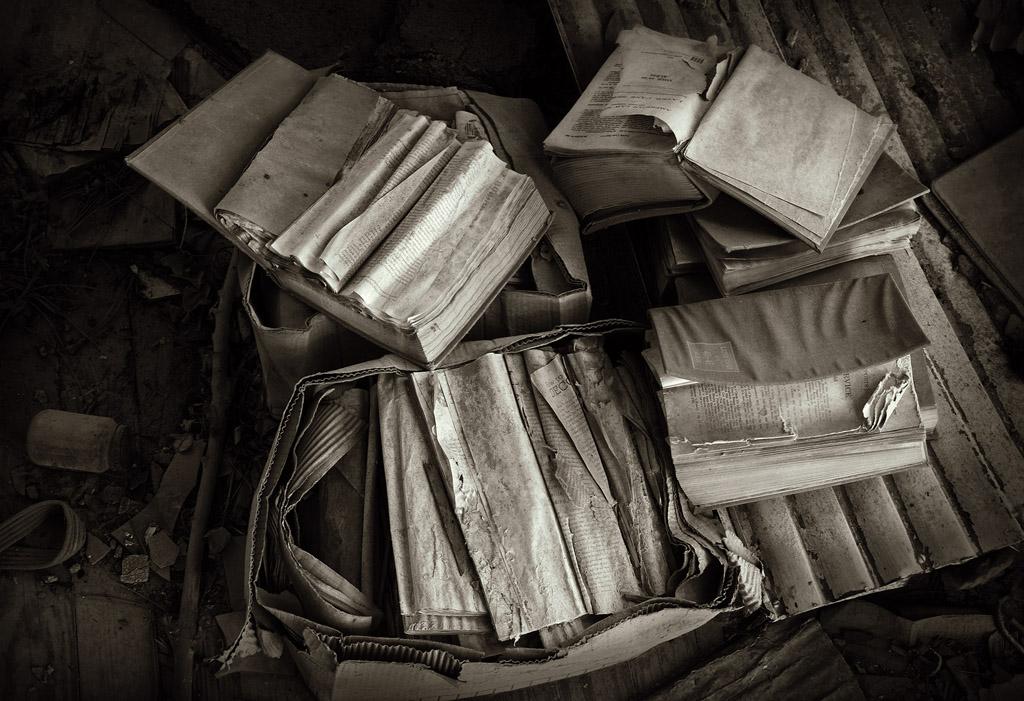Books Dissolving, 2013