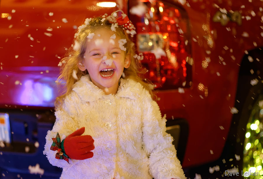 At the Christmas Parade – A Snow Photo