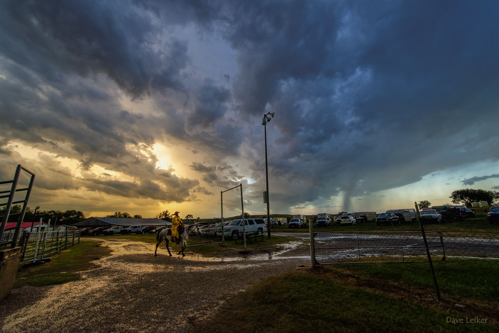 Storm Moving Over the Strong City Ranch Rodeo