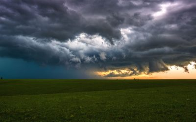 storm front above the prairie