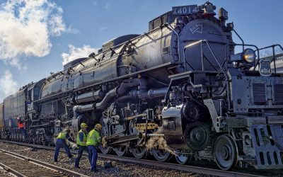 Big Boy Locomotive and crew