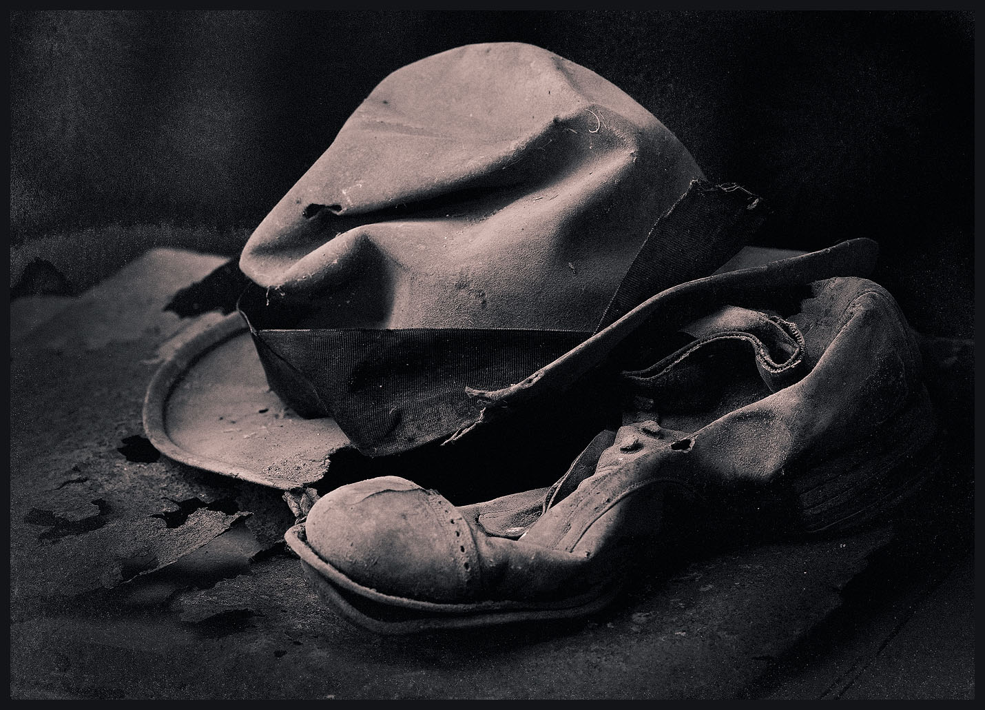 Aging hat and shoe